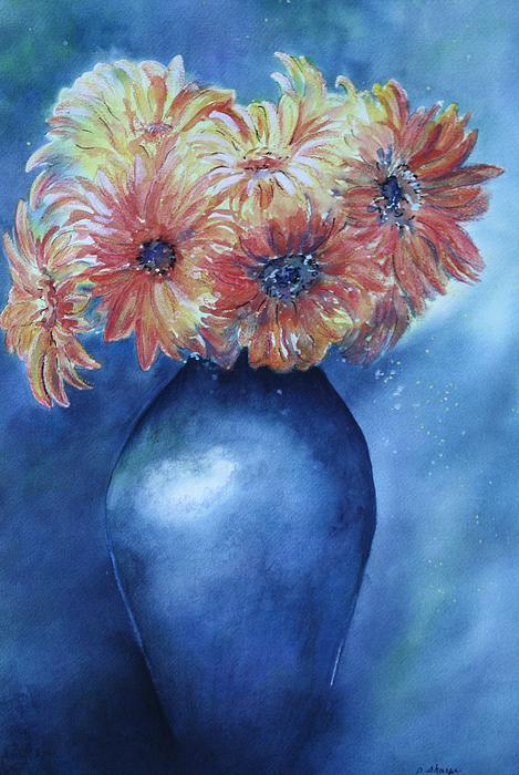 Sunrise Painting by Patsy Sharpe