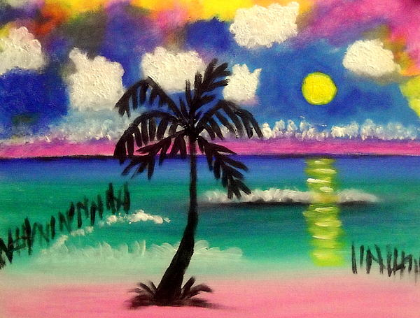 Sunset At Buhos Isla Painting by Ted Hebbler