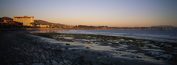 Outdoors Photograph - Sunset At Low Tide On Ventura Beach by Rich Reid