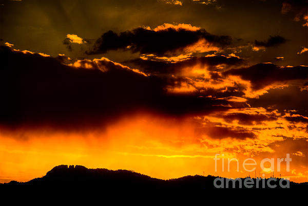 Fort Collins Photograph - Sunset Behind Horsetooth Rock by Harry Strharsky