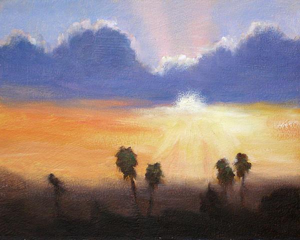 Landscape Painting - Sunset by Lori Quarton