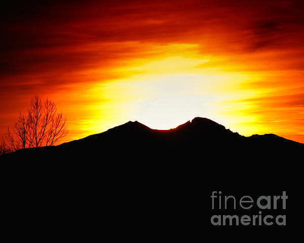 Larimer County Photograph - Sunset Over Longs Peak by Harry Strharsky