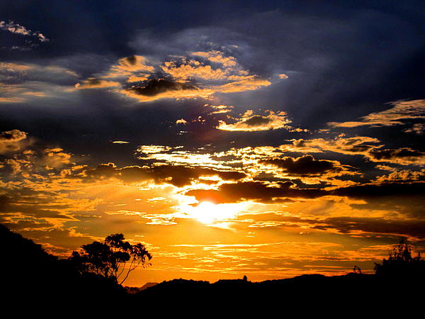 Sun Photograph - Sunset Over Topanga by Catherine Natalia  Roche