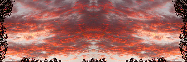Psychedelic Photograph - Sunset Panorama Psychedelic Trance by James BO  Insogna