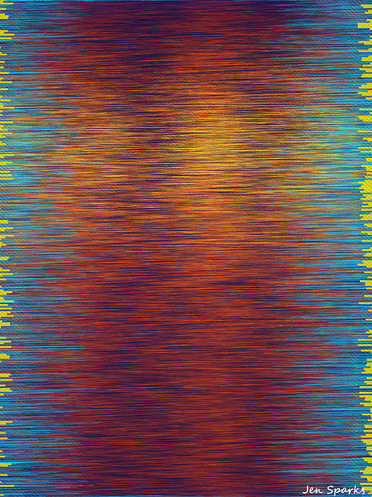 Digital Prints Mixed Media - Sunset Park by Jen Sparks