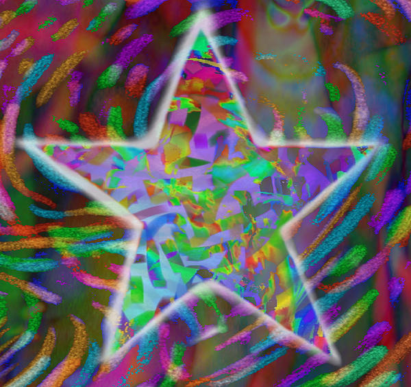 Star Mixed Media - Super Star by Kevin Caudill