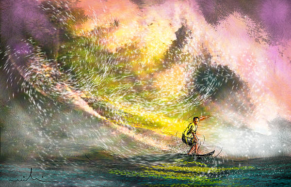 Sports Painting - Surfscape 02 by Miki De Goodaboom