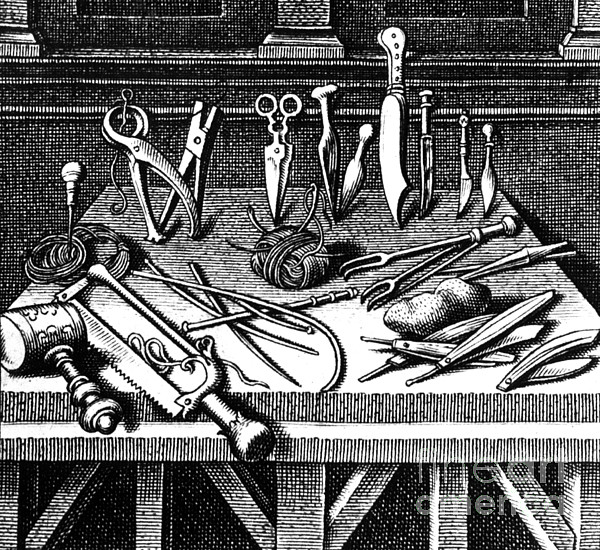 Science Photograph - Surgical Equipment, 16th Century by Science Source