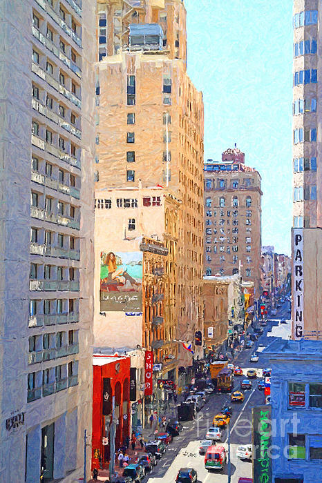 San Francisco Photograph - Sutter Street San Francisco by Wingsdomain Art and Photography