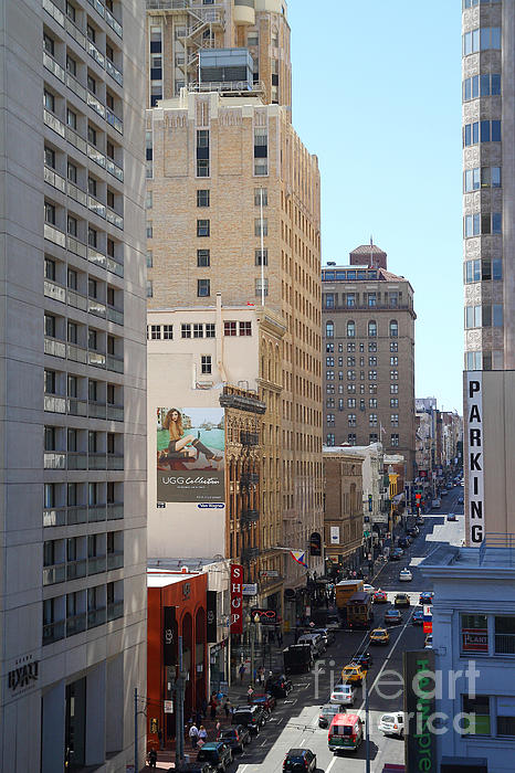 San Francisco Photograph - Sutter Street West View by Wingsdomain Art and Photography