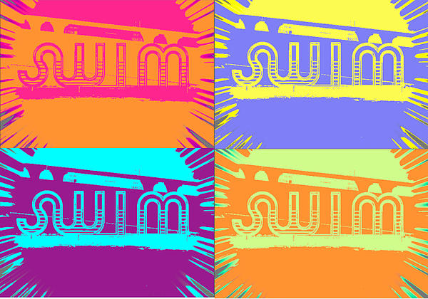 Swim Digital Art by Amber Hennessey
