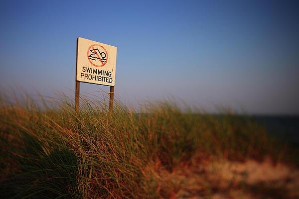 Captree Island Photograph - Swimming Prohibited by Rick Berk