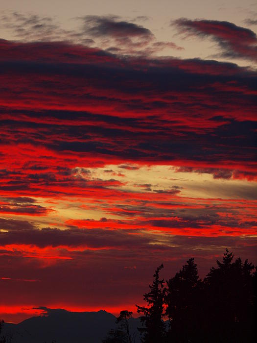 Sunset Photograph - Tacoma Sunset 3 by Jim Moore