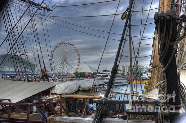 Tall Ships Photograph - Tall Ships At Navy Pier by David Bearden