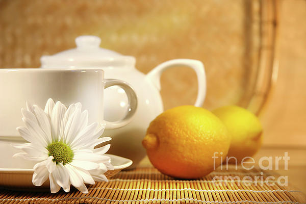 Beverage Photograph - Tea And Lemon by Sandra Cunningham