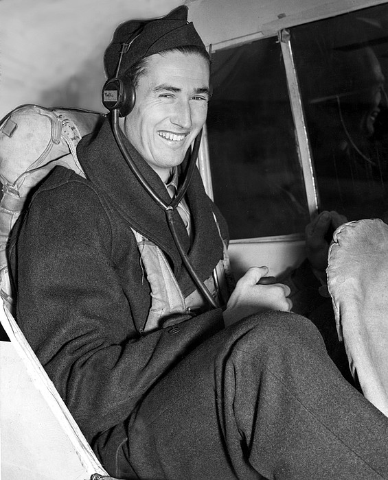 Baseball Photograph - Ted Williams In Navys Flight Training by Everett