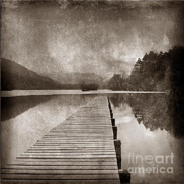 Close Up Photograph - Textured Lake by Bernard Jaubert