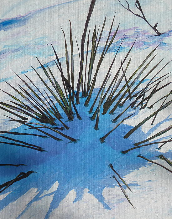 Snow Painting - Thaw by Sandy Tracey