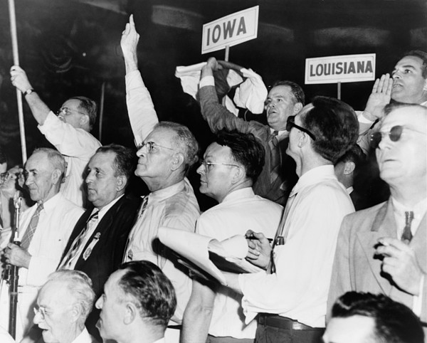 History Photograph - The Agitated Alabama Delegation by Everett
