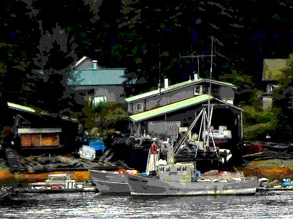 Boat Photograph - The Alaskan Fishermans Home by Mindy Newman