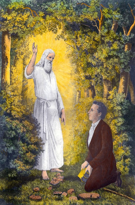 History Photograph - The Angel Moroni Delivering The Plates by Everett