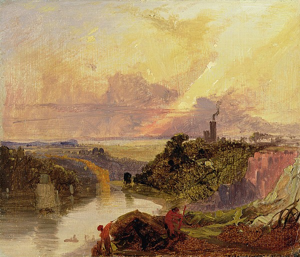 The Photograph - The Avon Gorge At Sunset  by Francis Danby