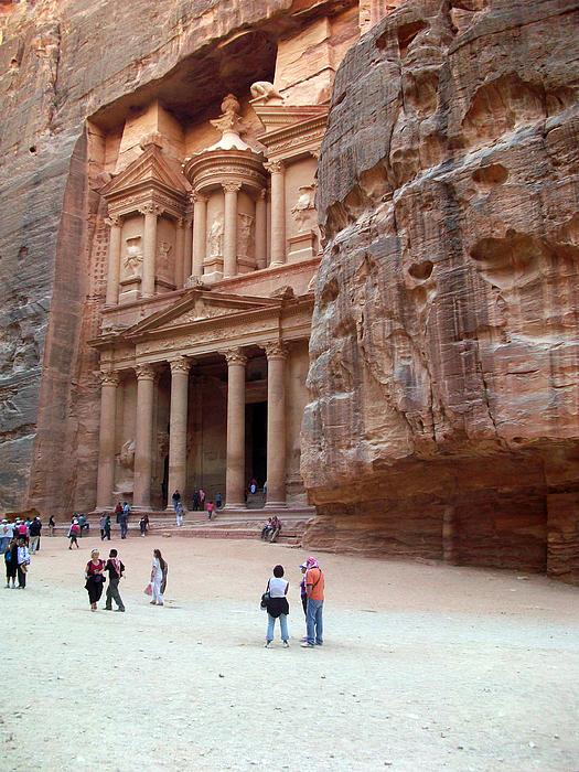Petra Photograph - The Bank by Munir Alawi
