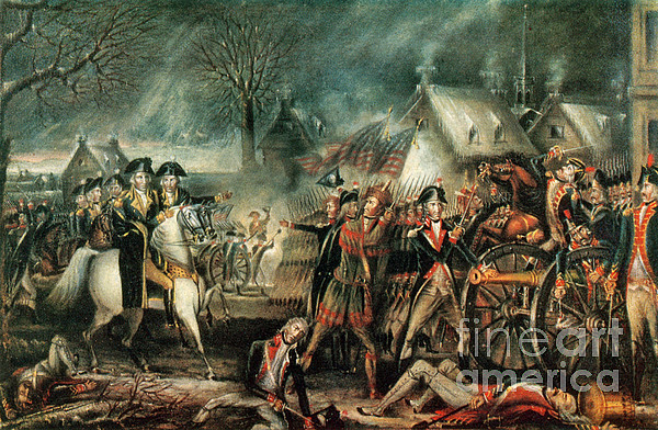 America Photograph - The Battle Of Trenton 1776 by Photo Researchers
