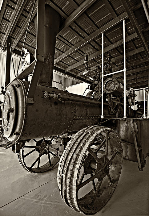 Grey Roots Museum & Archives Photograph - The Beast Sepia by Steve Harrington