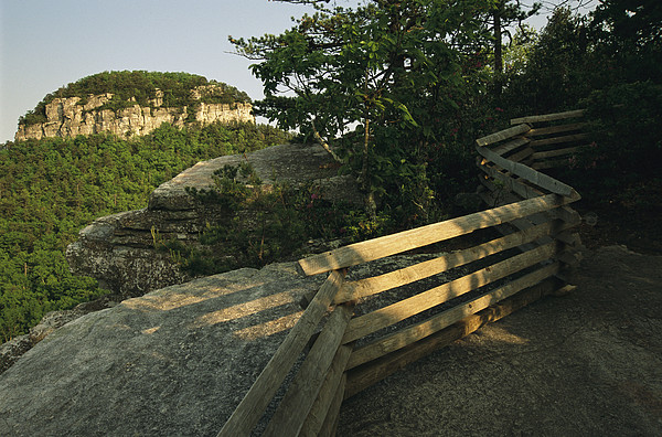 North America Photograph - The Big Pinnacle Of Pilot Mountain. The by Raymond Gehman