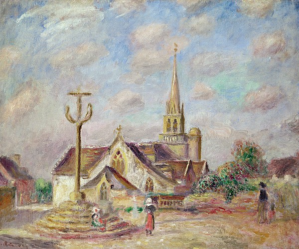 Lef218174 Photograph - The Calvary At Pont Aven by Pierre Auguste Renoir