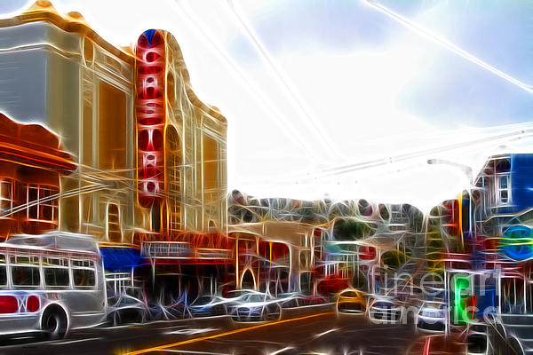 Cityscape Photograph - The Castro In San Francisco Electrified by Wingsdomain Art and Photography