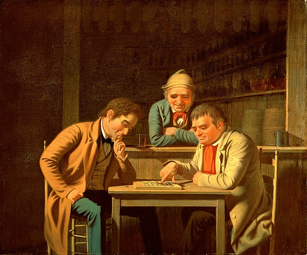 The Painting - The Checker Players by George Caleb Bingham