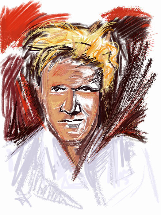 Gordon Ramsay Mixed Media - The Chef by Russell Pierce