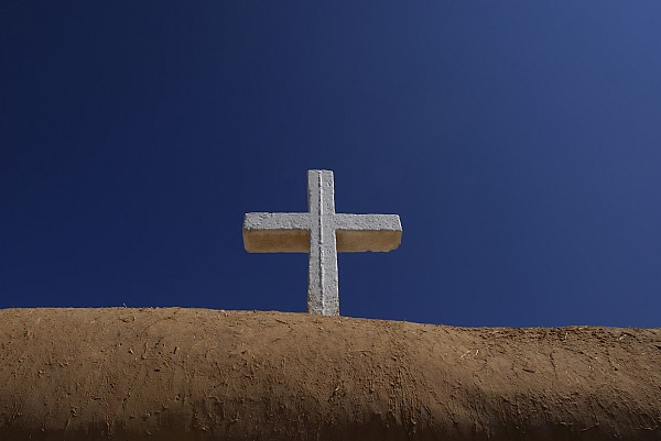 Outdoors Photograph - The Cross Above Saint Francis Catholic by Raul Touzon