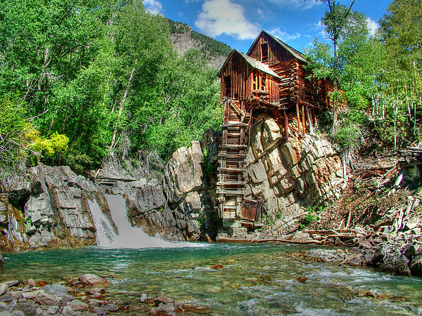 Crystal Mill Photograph - The Crystal Mill 1 by Ken Smith