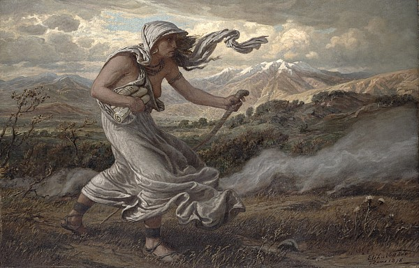 The Painting - The Cumaean Sibyl by Elihu  Vedder