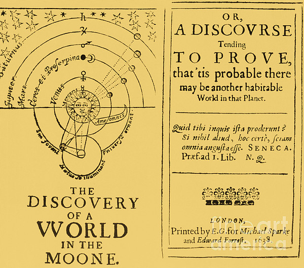 History Photograph - The Discovery Of A World In The Moone by Science Source