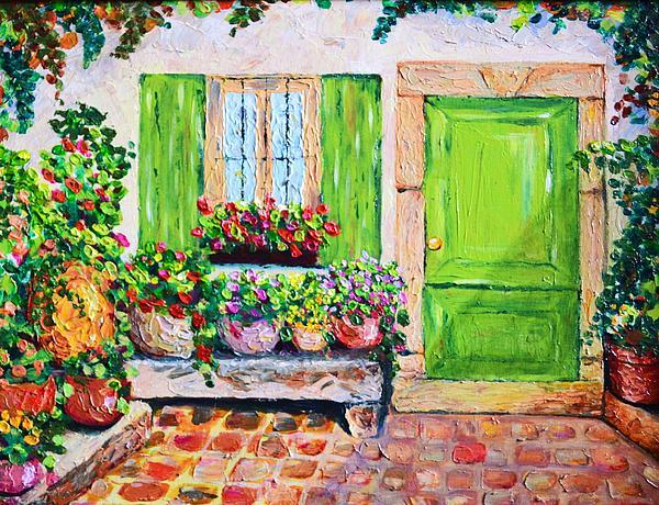 Patio Painting - The Door by Cristina Gosserez