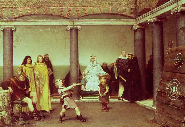 The Painting - The Education Of The Children Of Clothilde And Clovis by Sir Lawrence Alma-Tadema
