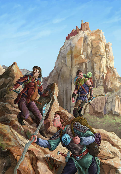 Fantasy Digital Art - The Explorers Color by Storn Cook