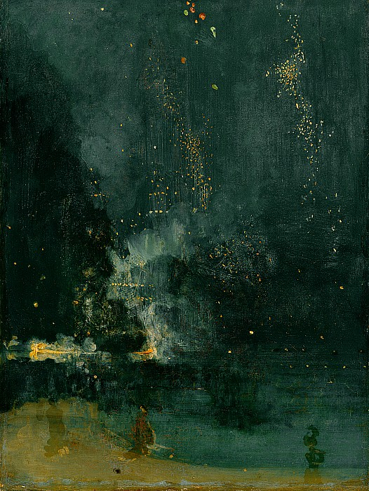 The Painting - The Falling Rocket by James Abbott Whistler