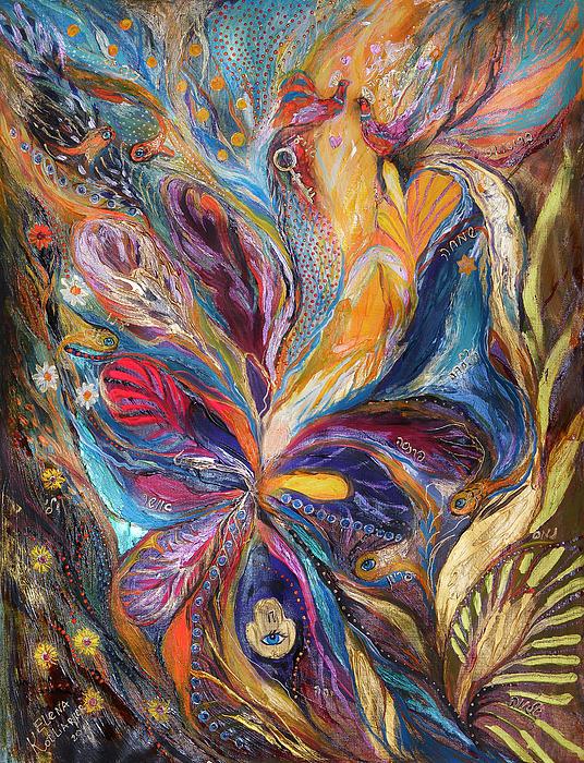 Original Painting - The Galilee Iris by Elena Kotliarker
