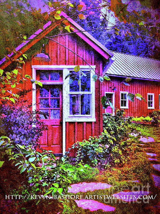 Country Cottage Digital Art - The Garden Path by Kevyn Bashore