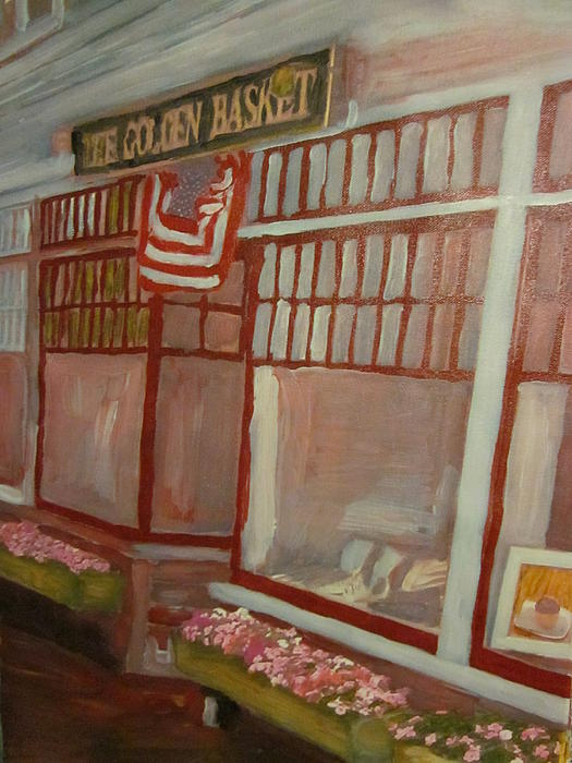 Nantucket Painting - The Golden Basket by David Poyant