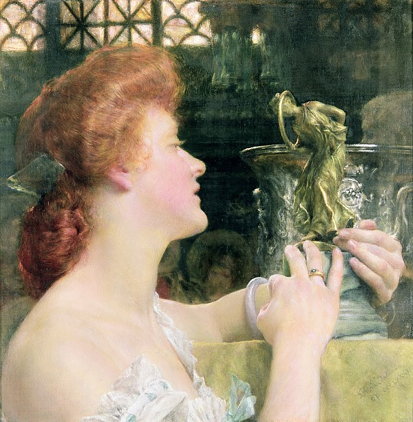 Golden Painting - The Golden Hour by Sir Lawrence Alma-Tadema