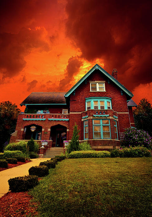 Haunted Photograph - The Haunted Brumder Mansion by Phil Koch