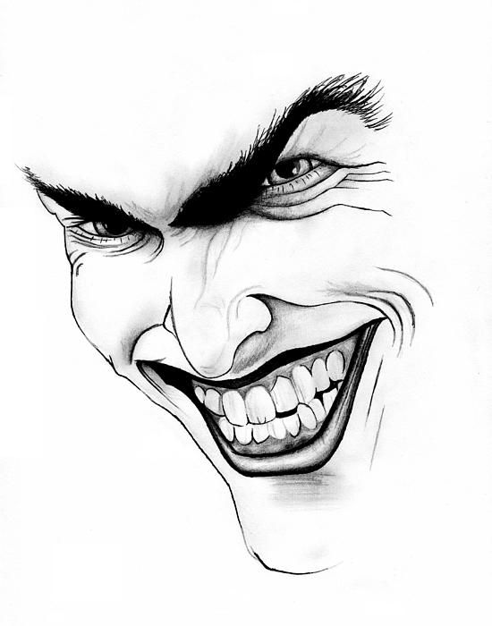 Joker Scribble Drawing : The joker drawing by peter landis