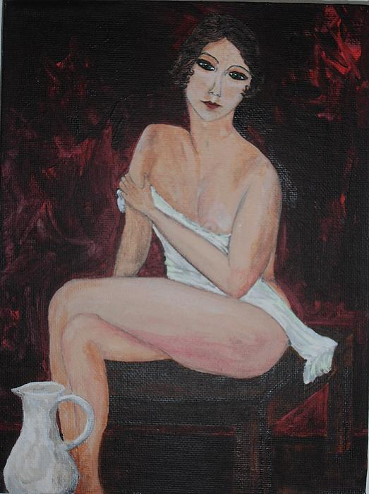 Semi Nude Painting - The Jug by Siobhan Lawson