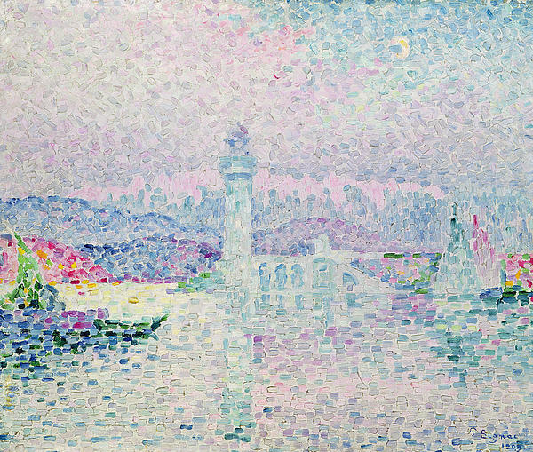 The Lighthouse At Antibes Painting - The Lighthouse At Antibes by Paul Signac